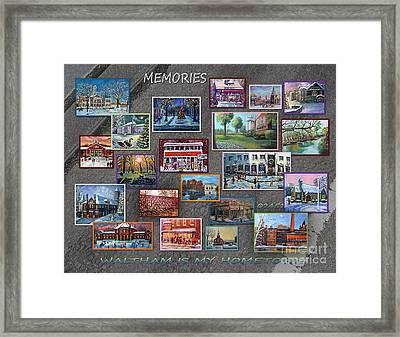 Streets Full Of Memories Framed Print by Rita Brown