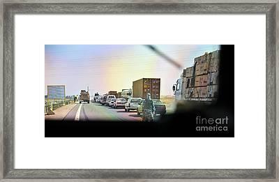 Streets Of Al Anbar Framed Print