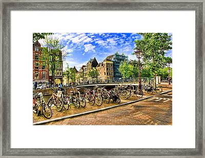Streets Of Amsterdam Framed Print
