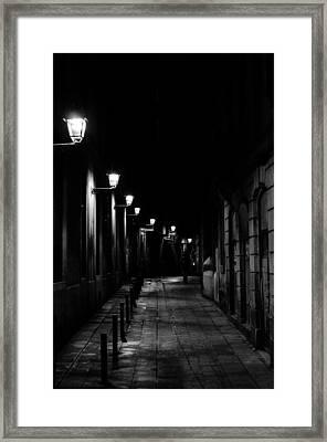 Streets Of Barcelona Framed Print