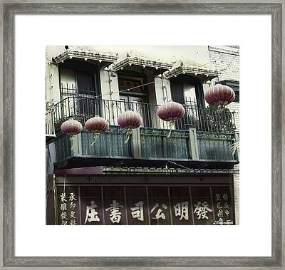 Streets Of Chinatown Framed Print by Larry Butterworth
