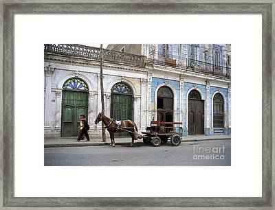 Streets Of Cienfuegos Framed Print
