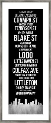 Streets Of Denver 2 Framed Print