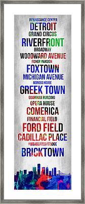 Streets Of Detroit 1 Framed Print