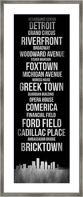 Streets Of Detroit 2 Framed Print