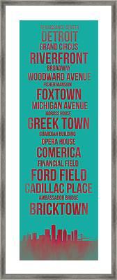 Streets Of Detroit 4 Framed Print
