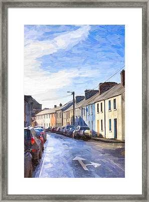 Streets Of Galway On A Winter Morn Framed Print by Mark E Tisdale