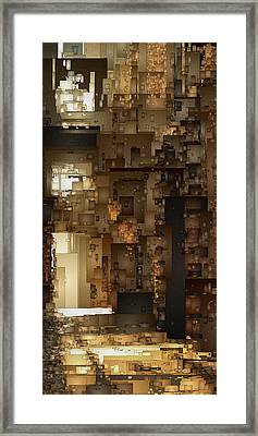 Streets Of Gold Framed Print