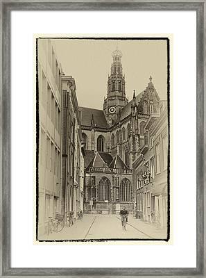 Streets Of Haarlem Framed Print