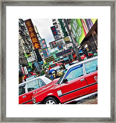 Framed Print featuring the photograph Streets Of Hong Kong by Sarah Mullin