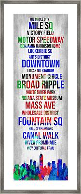 Streets Of Indianapolis 1 Framed Print by Naxart Studio