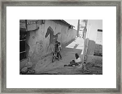 Streets Of Kadifekale District Framed Print by Ilker Goksen