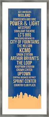 Streets Of Kansas 3 Framed Print by Naxart Studio