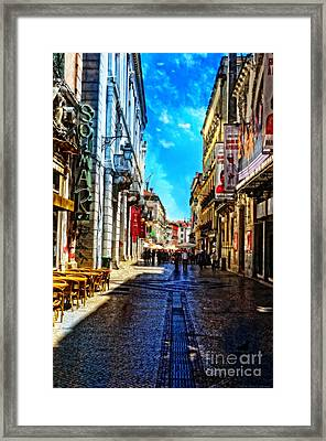 Streets Of Lisbon 1 Framed Print by Mary Machare