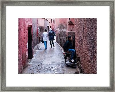 Streets Of Marrakesh Framed Print by Daniel Kocian