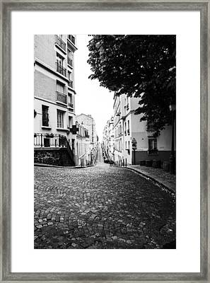 Streets Of Montmartre Framed Print by Georgia Fowler