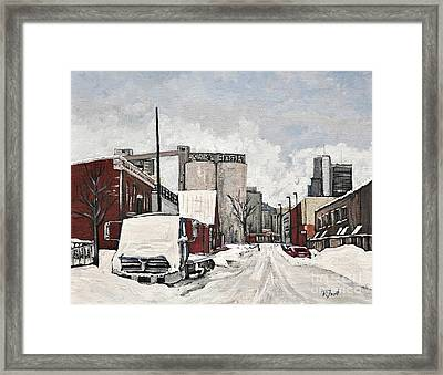 Streets Of Montreal Pointe St. Charles Framed Print by Reb Frost
