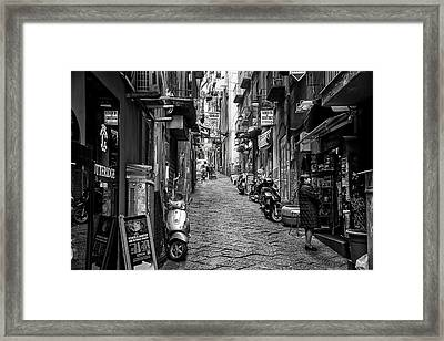 Streets Of Naples Framed Print