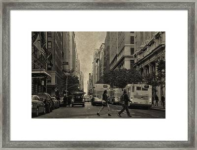 Streets Of New York City Framed Print