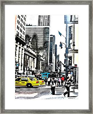 Streets Of Nyc 14 Framed Print by Mario Perez