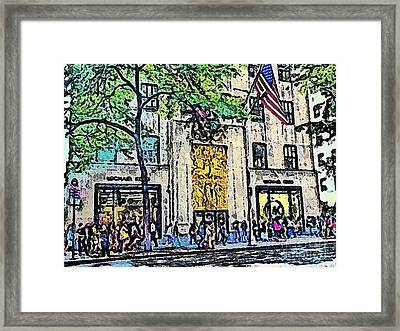 Streets Of Nyc 7 Framed Print by Mario Perez