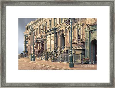 Streets Of Old New York City Tilt Shift Framed Print