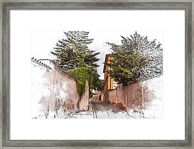 Streets Of Old Prague 1 Framed Print by Jenny Rainbow
