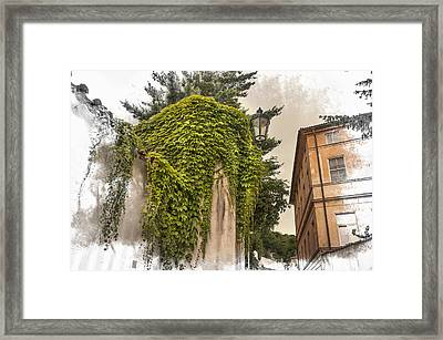 Streets Of Old Prague Framed Print by Jenny Rainbow