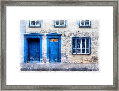 Streets Of Old Quebec 2 Framed Print