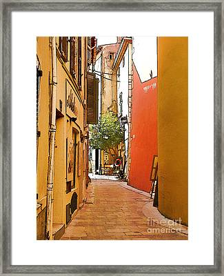 Streets Of Old St Tropez 2 Framed Print by Rod Ohlsson
