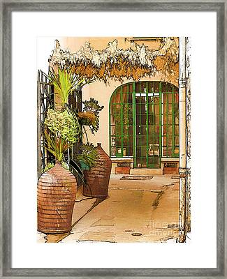 Streets Of Old St Tropez 3 Framed Print by Rod Ohlsson