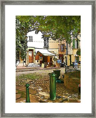 Streets Of Old St Tropez Framed Print by Rod Ohlsson