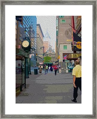 Streets Of Philadelphia Framed Print by Garland Johnson