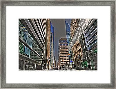 Streets Of Philadelphia Framed Print by Mark Ayzenberg