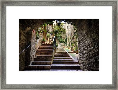 Streets Of Pisa Framed Print by Pablo Lopez