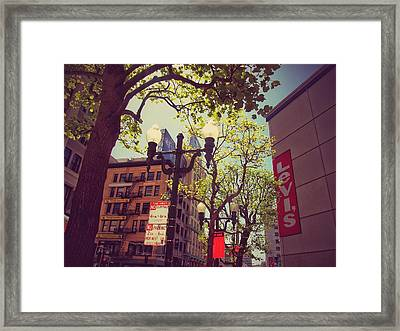 Streets Of San Francisco  Framed Print by Laura Mazzuca