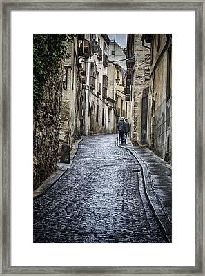 Streets Of Segovia Framed Print