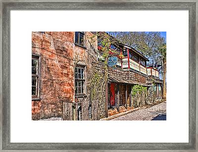 Framed Print featuring the photograph Streets Of St Augustine Florida by Olga Hamilton