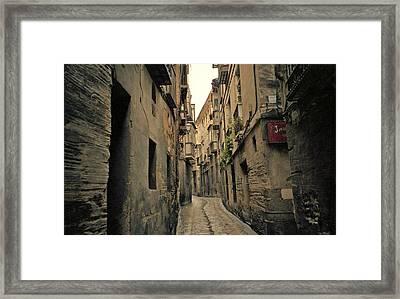 Streets Of Toledo Framed Print