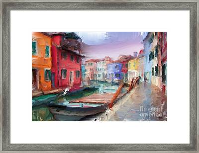 Streets Of Venice Framed Print