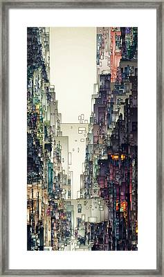 Streetscape 1 Framed Print by David Hansen