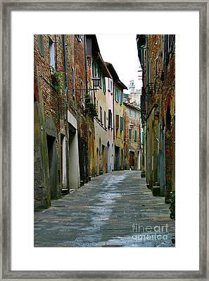 Streetscape Tuscany Framed Print by Henry Kowalski