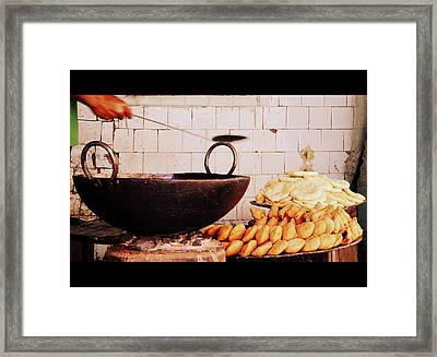Framed Print featuring the photograph Streetside Delicacy by Rima Biswas