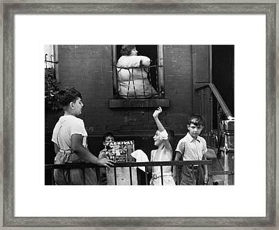 Streetside Games, 1938 Framed Print by Granger