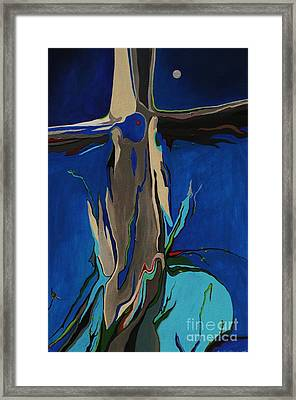 Framed Print featuring the painting Strength by Alison Caltrider