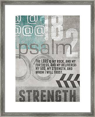 Strength And Trust- Contemporary Christian Art Framed Print by Linda Woods