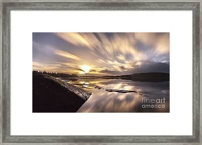 Framed Print featuring the photograph Strength In The Storm by Rose-Maries Pictures