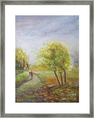 Framed Print featuring the painting Strength by Jane  See