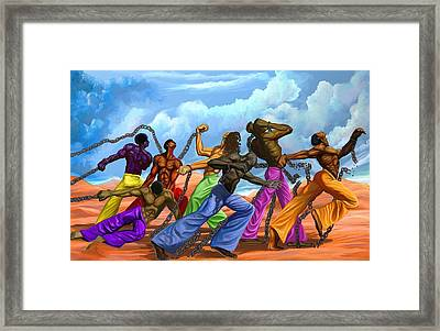 Strength Of A Man Framed Print by The Art of DionJa'Y