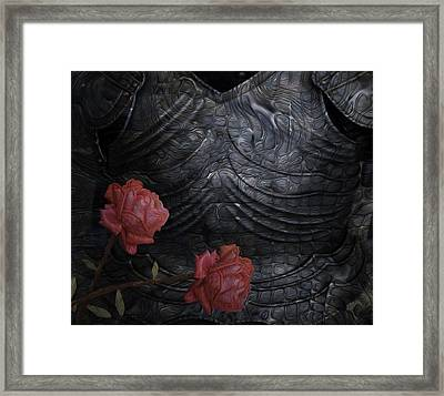 Strength Of A Rose Framed Print by Jack Zulli